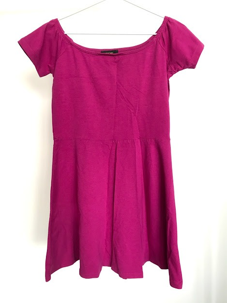 Purple off-shoulder dress - size measurement included