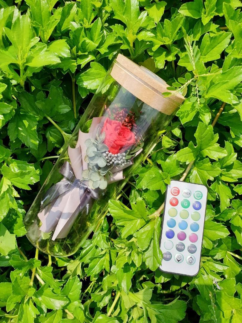 (R25) Hour Glass - Roses Jar
