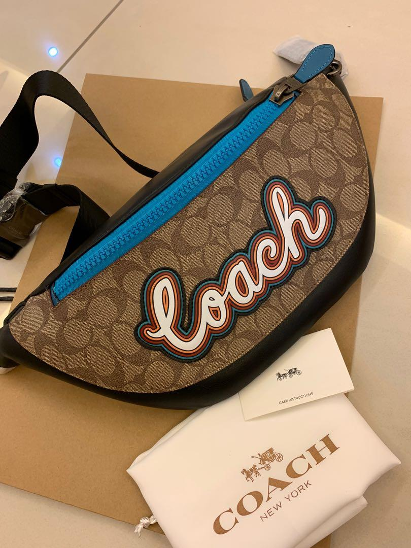 Ready stock authentic coach 76795 men chest bag shoulder bag Christmas sales