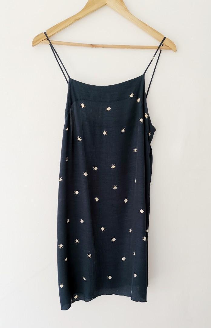 Rue Stiic Zimmi Slip Mini Dress in Navy Star - Size S