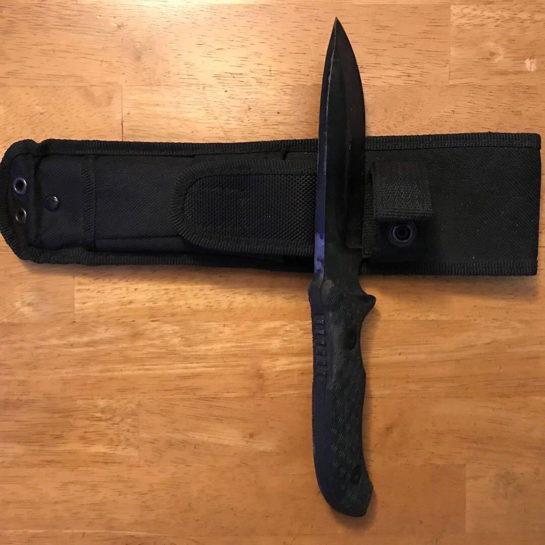 """Schrade Survival Knife 5"""" schf36 1095 steel"""