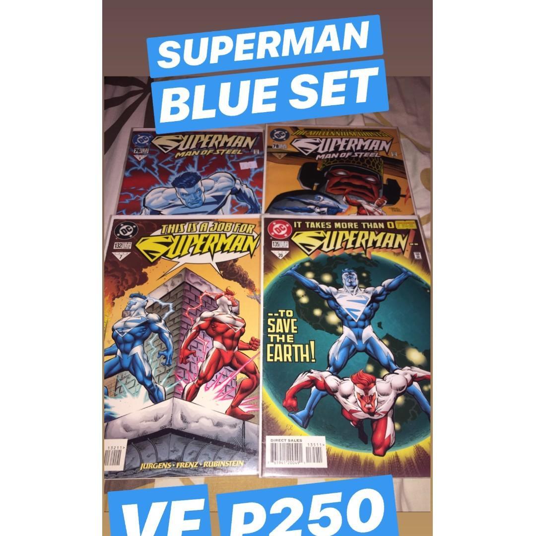 SUPERMAN DC Comics Set (Superboy 90s #17, Superman Blue set, Superman/Batman #28 and #29, Cyborg Superman #1 (New 52)