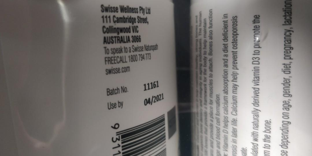 swisse ultiboost維生素D鈣片150粒鈣質營養孕婦非魚油