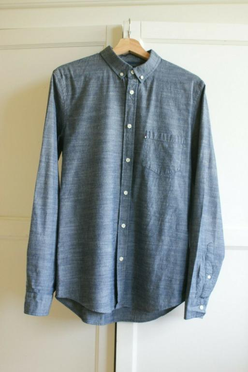 THE ACADEMY BRAND Chambray  Long Sleeve Shirt | RRP $90