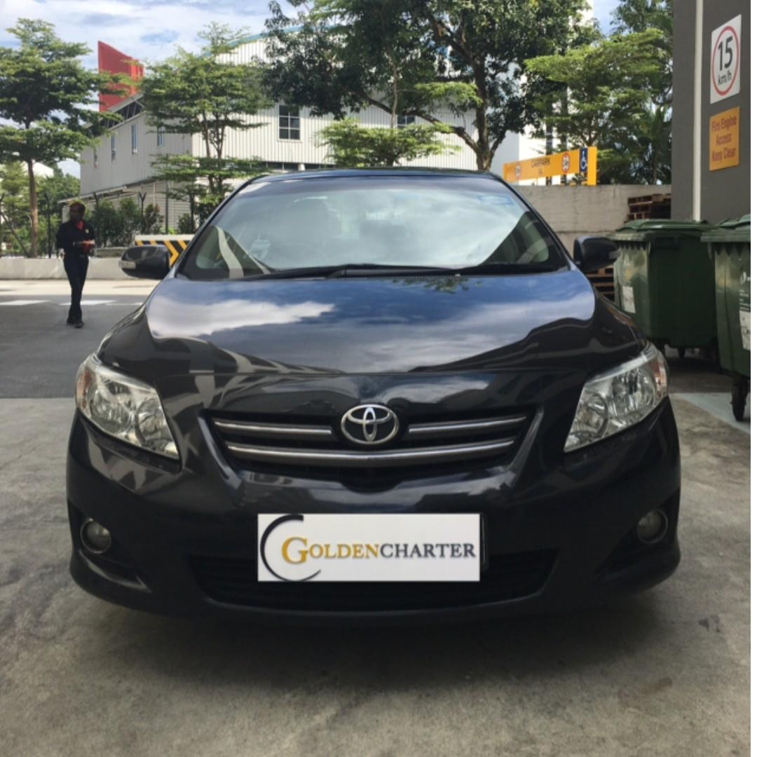 Toyota Altis Vehicle Rental, gojek weekly rental rebate. Personal also can rent with us