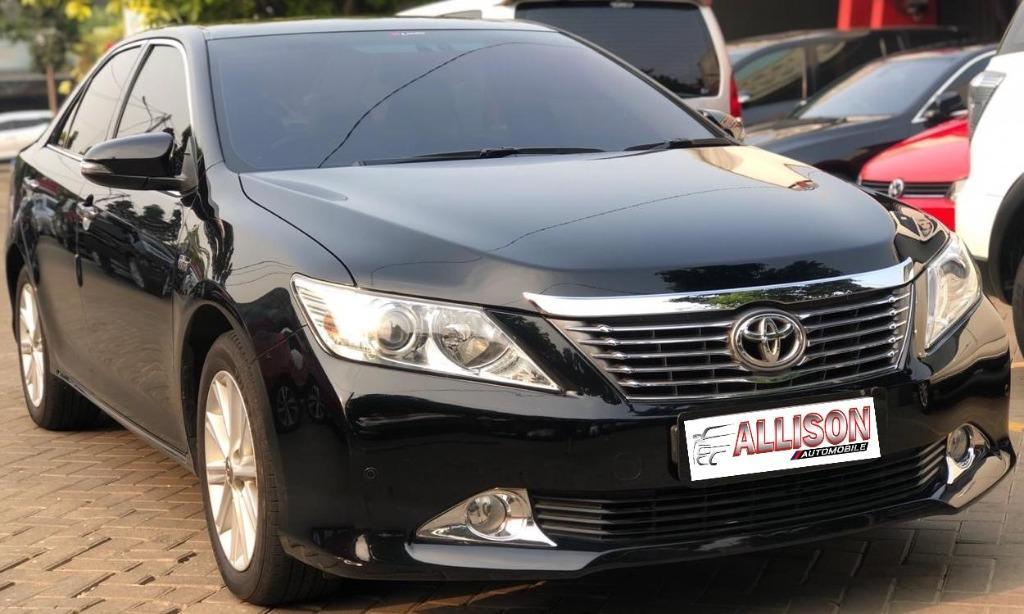 Toyota New Camry 2.5 V AT 2012 Hitam Km 46 Rb Dp 45,9 Jt No Pol Genap
