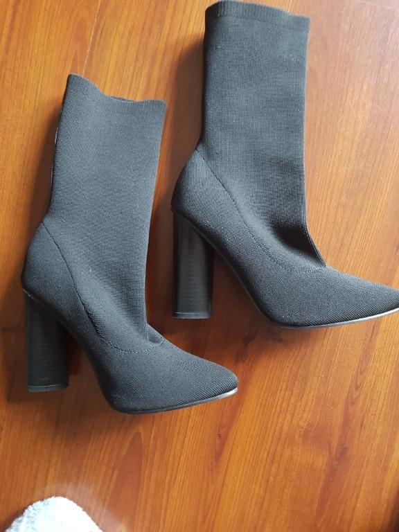 Windsor Smith Yuki Black Knitted Stretch Boot. RRP$179.95
