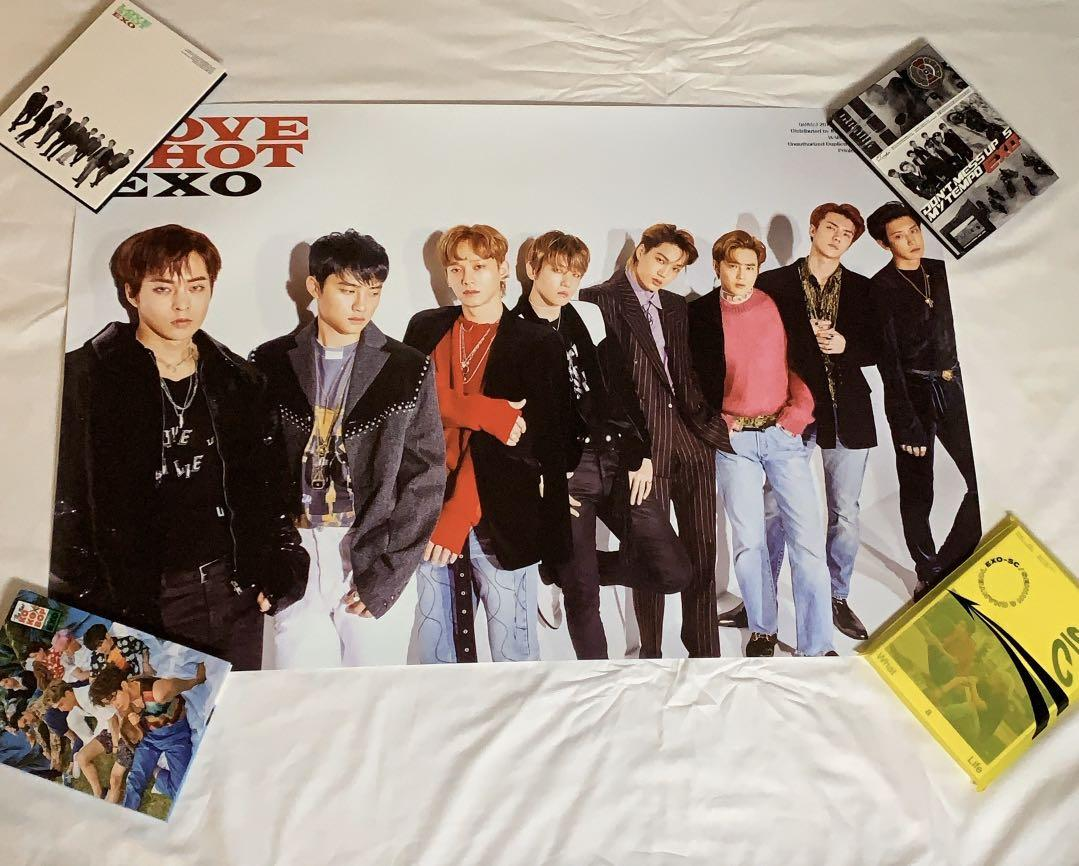 [WTS] [SG/MSIA ONLY]  EXO official love shot poster (love ver.)