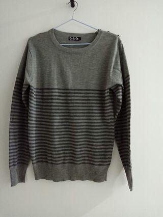 條紋針織衣 (M)