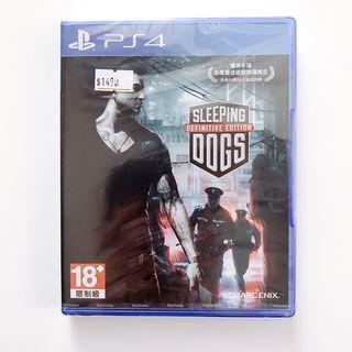 平常小姐┋全新未拆封┋PlayStation【PS4遊戲】《睡犬:香港秘密警察》繁體中文版 Sleeping Dogs