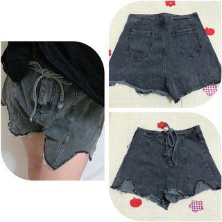 牛仔短褲(灰)✨全新✨
