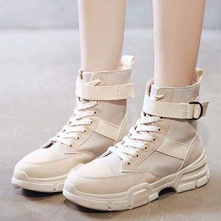 復古率性綁帶馬丁靴·尺碼38