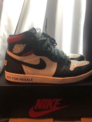 "Air Jordan 1 ""Not For Resale"" varsity red"
