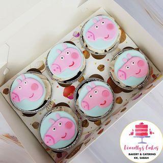 Peppa pig cupcakes 😋🐷