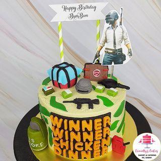 PUBG themed cake