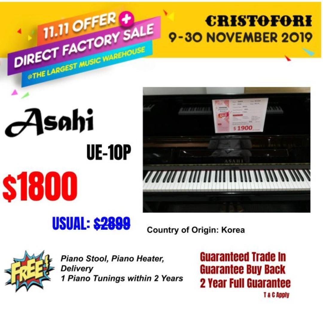 11.11 CRISTOFORI LARGEST MUSIC WAREHOUSE SALES !!! ASAHI UE-10P ($1800)