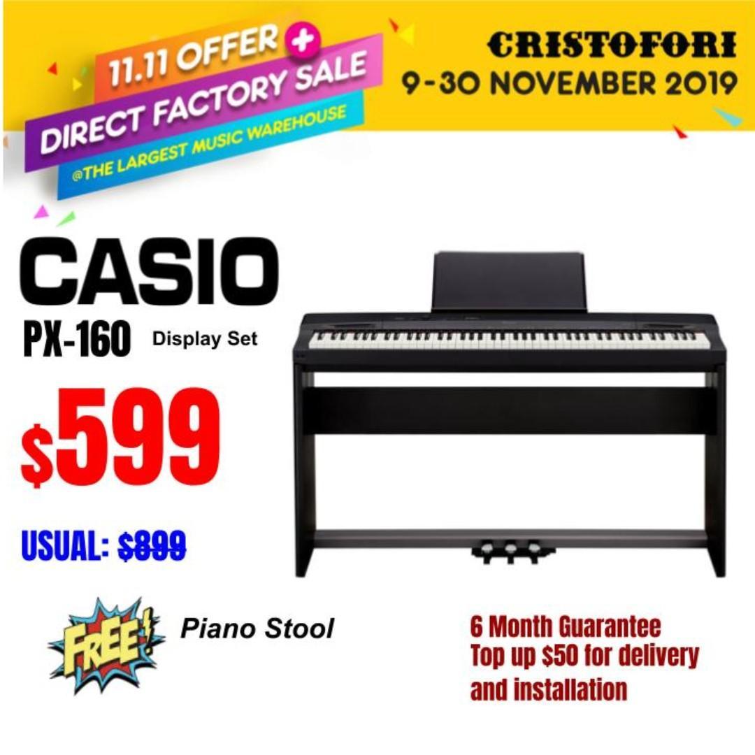 (Showpiece) Casio PX160 88 keys Digital Piano - Realistic piano feel
