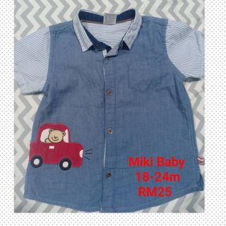 Miki baby shirts for boys