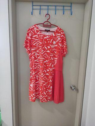 Free! Gitti Pleated Plus Size Dress