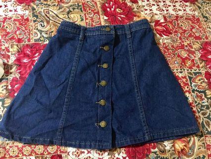 全新深藍色顯瘦牛仔短裙
