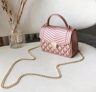 Sling Bag-Jelly-Pink