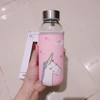 Botol Minum kaca Unicorn