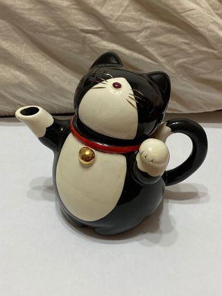 全新 貓咪茶壺 賓士貓 濾茶器 最後一張有比例尺