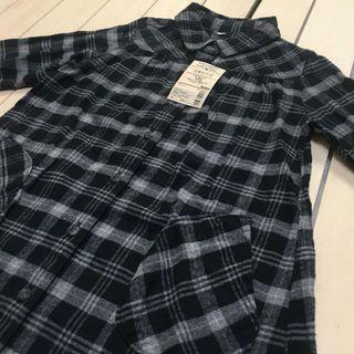 無印良品 MUJI 童裝 幼兒 法蘭絨洋裝 格紋襯衫