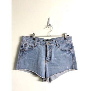韓版 牛仔短褲