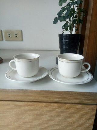 全新咖啡杯盤組