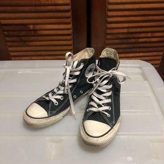 正品Converse all star 黑色高筒帆布鞋