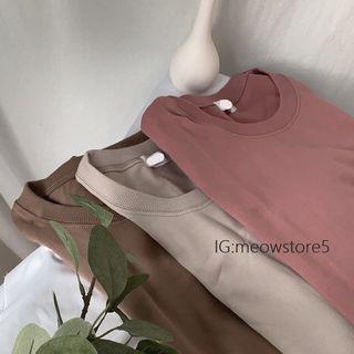 乾燥玫瑰粉T恤