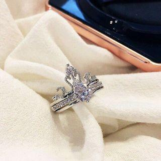 Crown Diamond Twin Ring #PayDay80