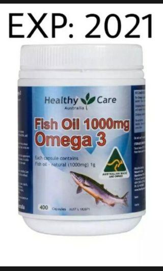 Omega 3 / Healthy Care Fish Oil 1000mg/ 400 Capsules