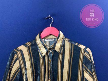 天鵝絨條紋短版厚磅軟襯衫
