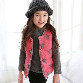 韓國童裝保暖質感鋪毛背心/二面可穿 9成新80~100CM 原價800多