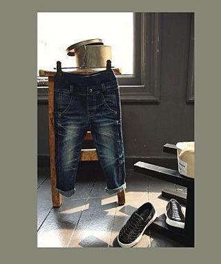 韓國 女童牛仔褲 7號90-105CM 近新
