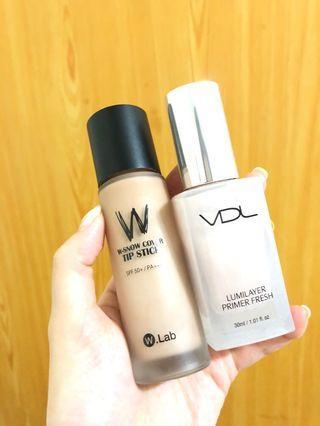 Wlab粉底液/VDL貝殼妝前提亮乳