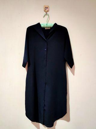 Dress Kemeja Navy This Is April
