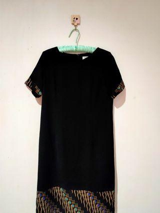 Dress Hitam Batik Designer Lyne Halim