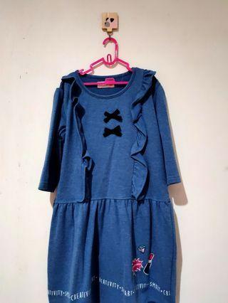 Dress Anak Pita Biru