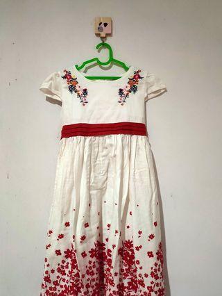 Gaun Anak Bunga Bordir