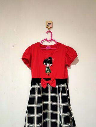 Dress Merah Girly