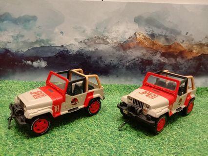 Set of 2 Jurassic Park Jeeps