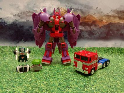 Assorted Transformers Set : Alpha Trion, Optimus, TailGate, BotBot