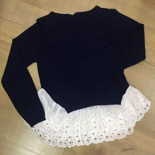 Knitted lace blouse