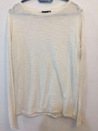 H&M Long sleeve white top