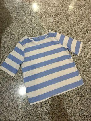 Baby Blue stripes top