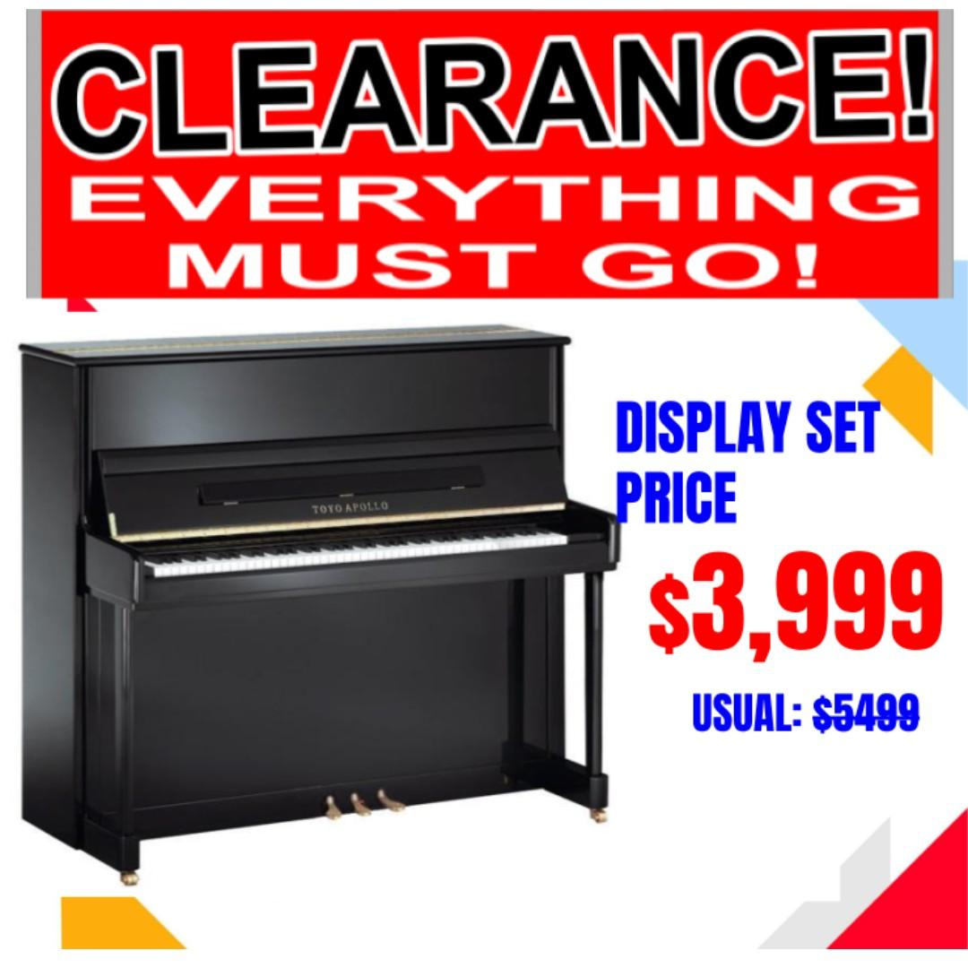 ($3999) Japan Made Piano – Toyo Apollo  (TOYO APOLLO JUP1 (Made in JAPAN, Japan Top 3 Piano Makers from Hamamatsu)