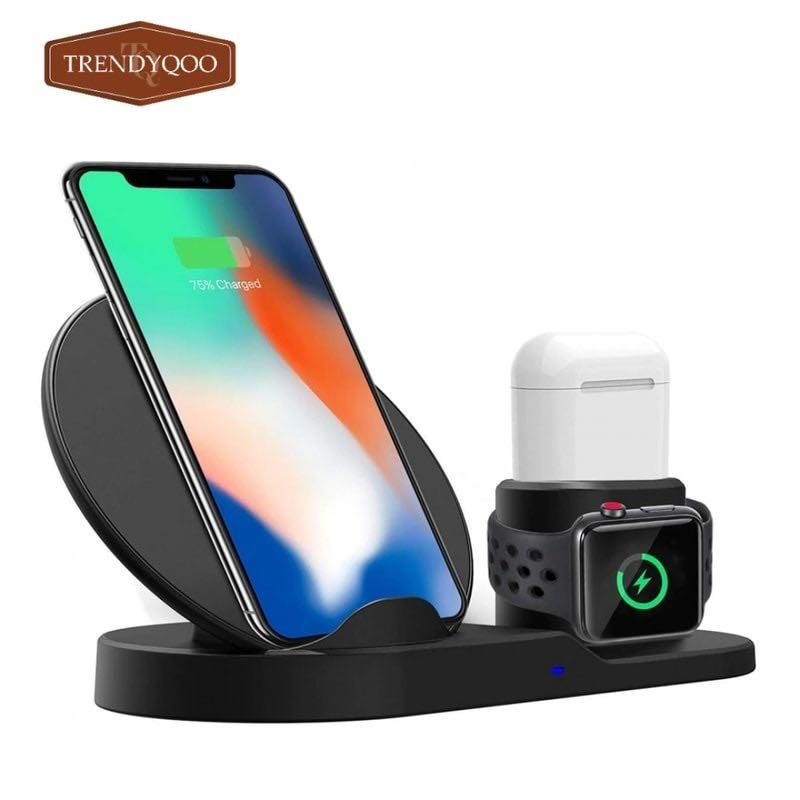 3 In 1 Fast Charging Qi Wireless Charger For Apple watch/ iPhone